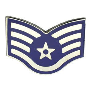 Air Force Staff Sergeant Pin USAF Air Force E5 Staff Sgt Rank Pin