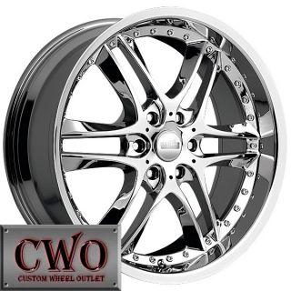 22 Chrome Akuza Blade Wheels Rims 6x139 7 6 Lug Tahoe Escalade Yukon