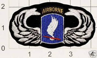 US Army Airborne Ranger Iron On Patch 173rd Brigade Iraq Vietnam