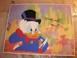 Hand Signed Disney Production Cel Voice Scrooge McDuck