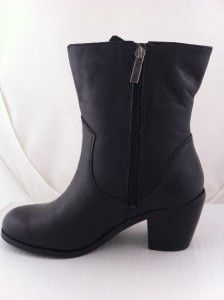 New Womens Harley Davidson Alanis Zipper Black Boots 7 Medium 84439