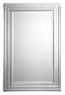 Uttermosts Alanna frameless mirror is constructed of stepped