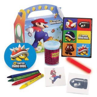 12 Super Mario Bros Kid Party Favor Filled Goodie Bag Sets