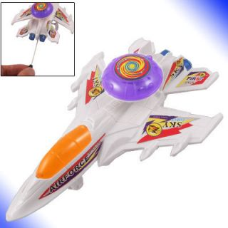 Battery Operated Plastic Flashlight Airplane Models Toy White Orange