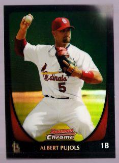 Albert Pujols Angels Cardinals 2011 Bowman Chrome Refractor 5 Best