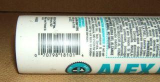 DAP Alex Plus 10 1oz Acrylic Latex Caulk Silicone 35yr Brilliant White