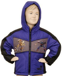 Transformers Kids Boys Jacket Blue Grey Hoodie Coat