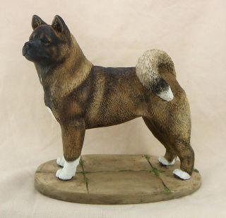 American Akita Dog Sculpture Figurine Model Statue Ornament Free