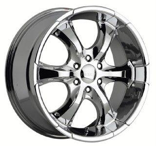 22 inch akuza oj chrome wheels rims 5x5 5 5x139 7 25