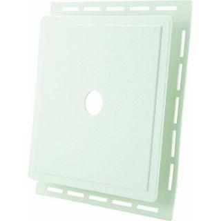 White Vinyl Siding J Block Mounting Block by Alcoa No Block PW