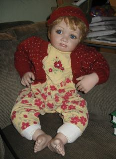 2001 Pamela Erff Strawberry Blonde Porcelain Baby Doll 063 750