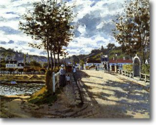 Claude Monet The Seine at Bougival Fine Art Canvas Giclee Sample Print