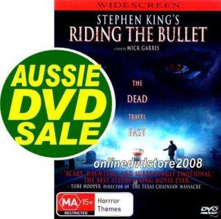 Stephen Kings RIDING THE BULLETCULT SCARY Horror MOVIE DVD (NEW