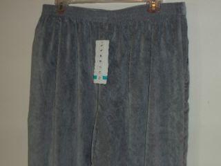 ALFRED DUNNER NEW Grey As You Wish Pants Womens SZ 16P Medium