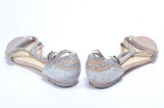 Alexandre Birman 6 M Blue Snake Embossed Leather Knot Flat Sandal Shoe