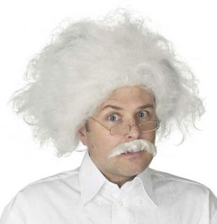 Adult Mens Albert Einstein Halloween Costume Hair Wig