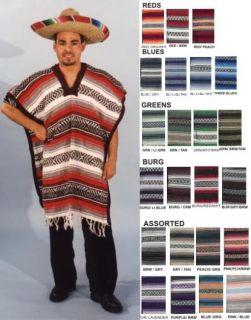 Mexican Poncho Adult Mens Western Cowboys Costumes Poncho Serape