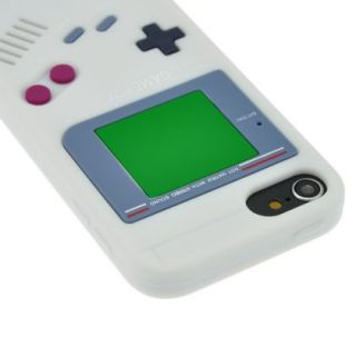 White Game Boy Style Silicone Case Cover Skin for Apple iPod Touch 5