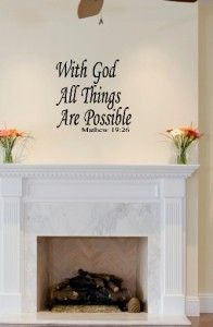 God All Things Possible Vinyl Wall Art Words Lettering