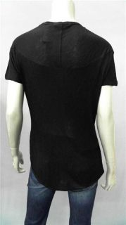 One by Dylan Alexa Misses L Knit Top Black Ribbed Short Sleeve Shirt