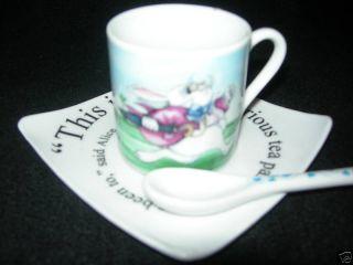 Paul Cardew Alice in Wonderland Set of 2 Expresso Cups