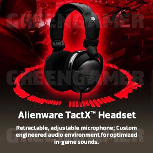 Alienware Tactx Wired PC Gaming Headphones Microphone Stereo Headset