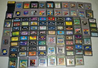 100 Nintendo Game Boy Color Advance Games Mario Land Tetris Mortal
