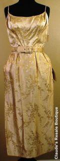 1950s Alfred Shaheen Dress w Original Tags Bust 33