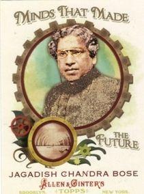 2011 Topps Allen Ginter Future Jagadish Chandra Bose