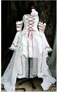 Pandora Hearts Alice White Party Dress Cosplay Costume