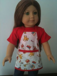 Christmas Cookie Apron fits AMERICAN GIRL DOLL Molly Julie Lanie