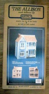 Artply Dollhouse Kit 77 The Allison 5 Rooms New in Factory SEALED Box