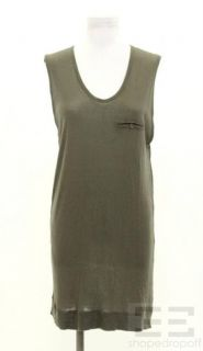 alexander wang olive green sleeveless dress