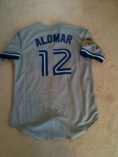 Roberto Alomar 93 World Series Blue Jays Jersey Size 48