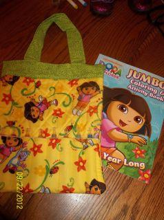 New Handmade Dora the Explorer Boots Color Book Crayon Carry Tote Bag