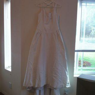 Alfred Angelo Wedding Dress Spaghetti Strap Dress Gown 12