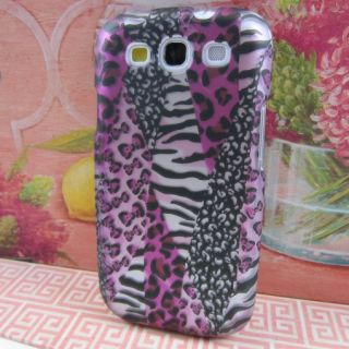 Hot Pink Safari Rubberized Hard Case Phone Cover Samsung Galaxy s III