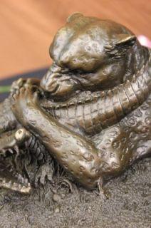 Barye Lion Attacking Crocodile Bronze Art Deco Animal Wild Life