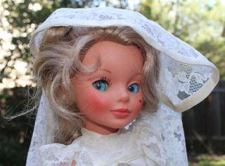 Vintage 1960s Furga Alta Moda Simona 17 Bride Doll Italy