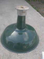 Gas Station Light Barn Green Vintage Porcelain Enamel