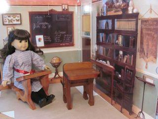 PRIMITIVE DOLL SCHOOL DESKS FITS AMERICAN GIRL HISTORICAL DOLL 18
