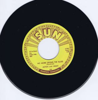 Alton Jimmy No More Crying The Blues Killer Sun Rockabilly Jiver Repro