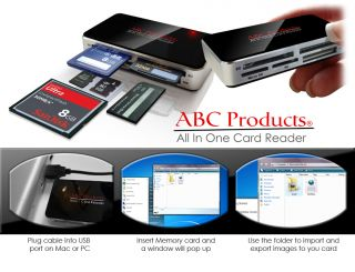 All in One USB 2 0 Multi Memory Card Reader Reads Compact Flash SDHC