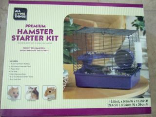 All Living Things Hamster Gerbils Cage Kit Nice New