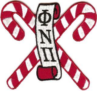 Kappa Alpha PSI PHI Nu Pi Kandy Kanes 3 Letter Scroll Nupe Iron on