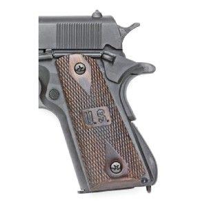 Replica M1911 45 Colt Auto US Grips 1911 WW2 Metal Prop