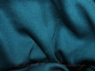 Alyn Paige New York Satin Ruffle Strapless Prom Dance Party Dress Teal