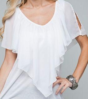 Size 3X TANK TOP SHIRT Womens Plus SHORT SLEEVE White ROMAN FASHION