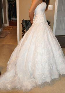 Allure Bridals Wedding Gown Dress Size 10 White Retail $2000