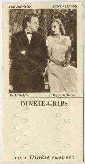 Van Johnson + June Allyson 1948 Dinkie Grips Card